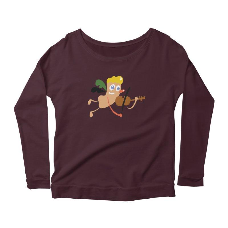 Little Angel Women's Scoop Neck Longsleeve T-Shirt by Dicker Dandy
