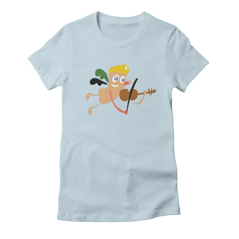 Little Angel Women's Fitted T-Shirt by Dicker Dandy