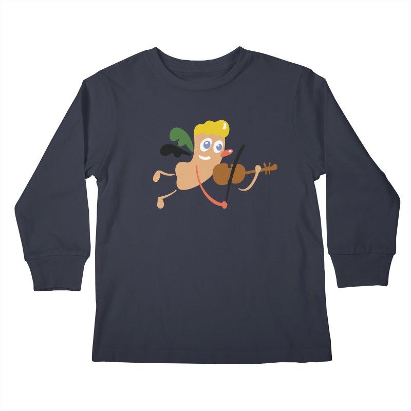 Little Angel Kids Longsleeve T-Shirt by Dicker Dandy