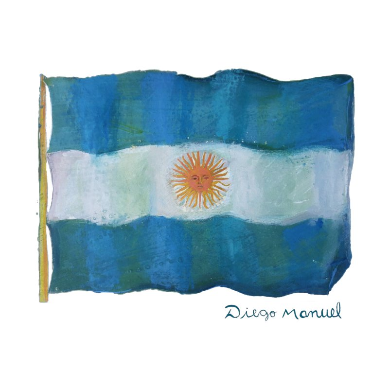 Argentina flag Men's T-Shirt by Diego Manuel Rodriguez Artist Shop