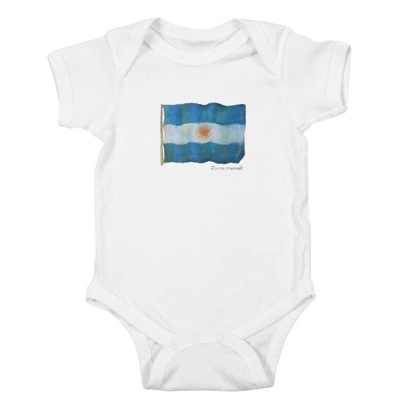 Argentina flag Kids Baby Bodysuit by Diego Manuel Rodriguez Artist Shop