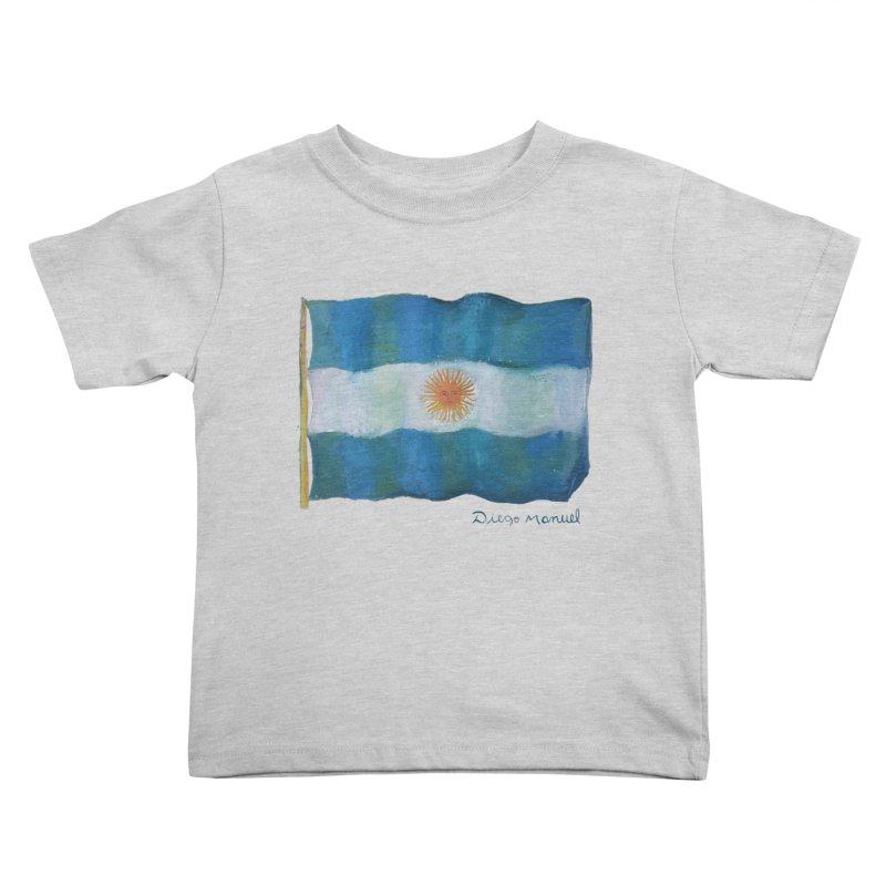 Argentina flag Kids Toddler T-Shirt by diegomanuel's Artist Shop