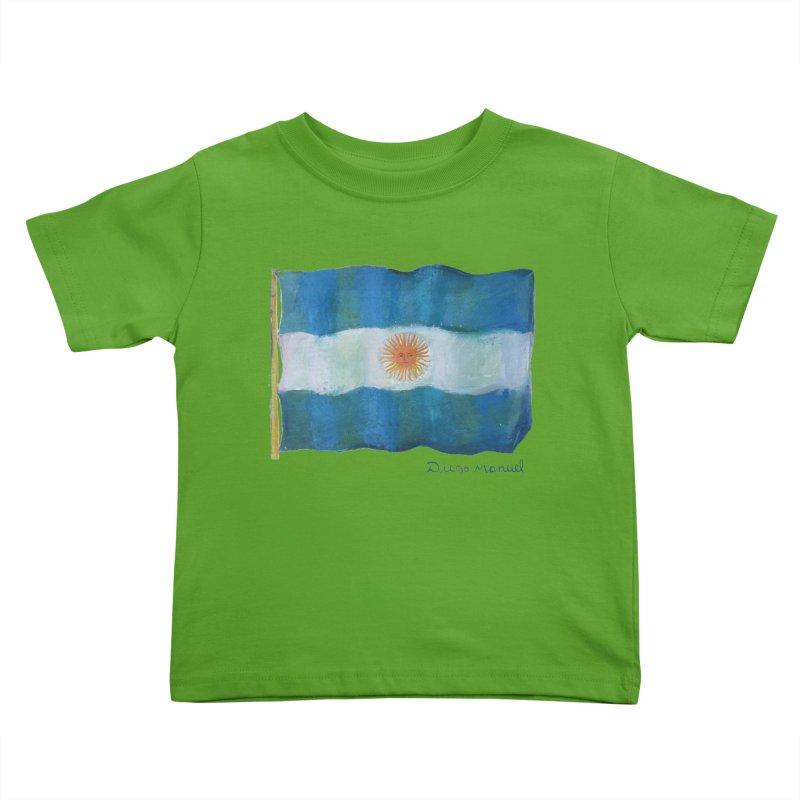 Argentina flag Kids Toddler T-Shirt by Diego Manuel Rodriguez Artist Shop