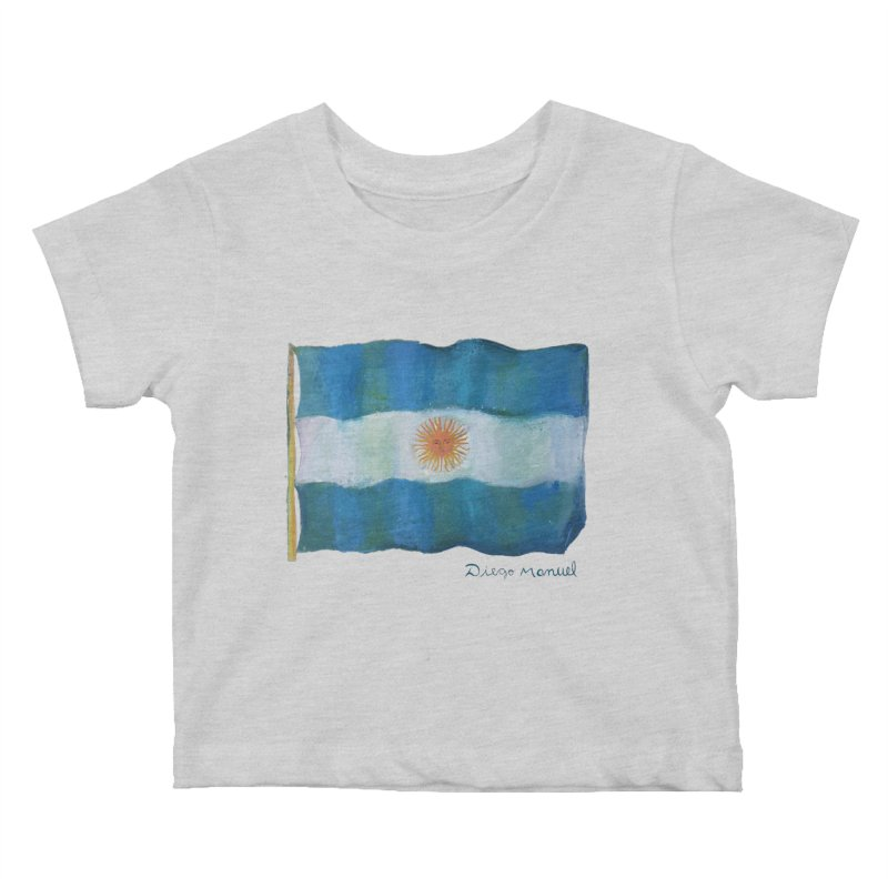 Argentina flag Kids Baby T-Shirt by diegomanuel's Artist Shop