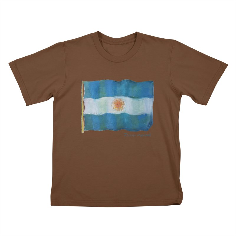 Argentina flag Kids T-Shirt by diegomanuel's Artist Shop