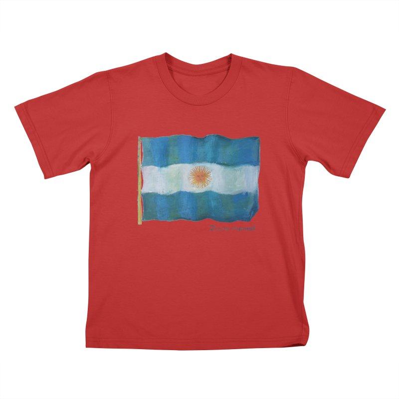 Argentina flag Kids T-Shirt by diegomanuel's Artist Shop