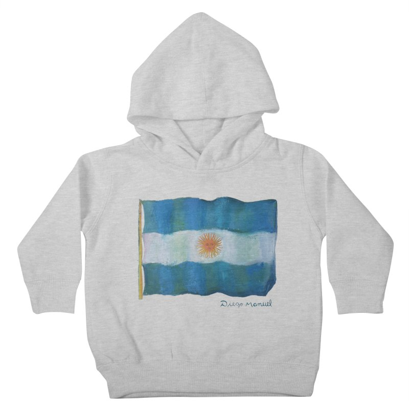 Argentina flag Kids Toddler Pullover Hoody by Diego Manuel Rodriguez Artist Shop