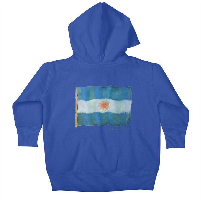 Argentina flag Kids Baby Zip-Up Hoody by diegomanuel's Artist Shop