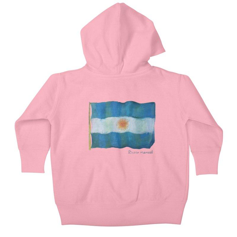 Argentina flag Kids Baby Zip-Up Hoody by Diego Manuel Rodriguez Artist Shop