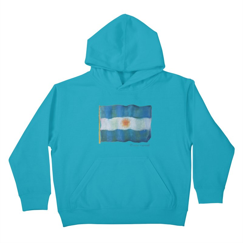 Argentina flag Kids Pullover Hoody by diegomanuel's Artist Shop