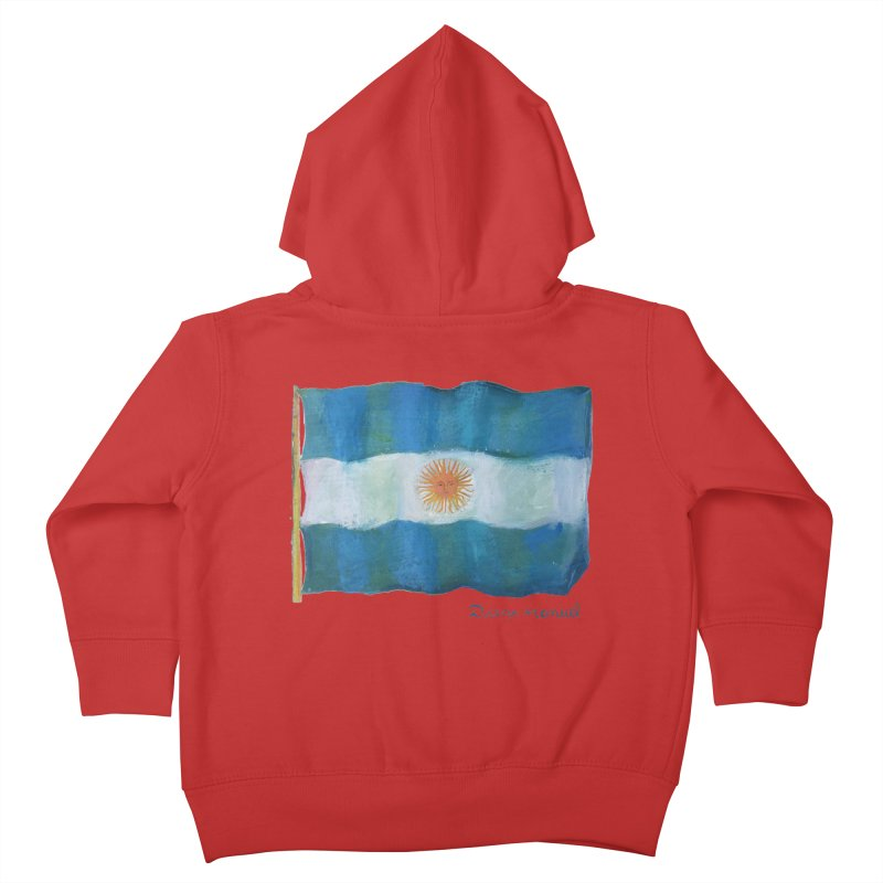 Argentina flag Kids Toddler Zip-Up Hoody by Diego Manuel Rodriguez Artist Shop