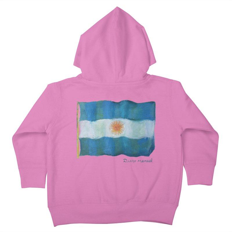 Argentina flag Kids Toddler Zip-Up Hoody by diegomanuel's Artist Shop