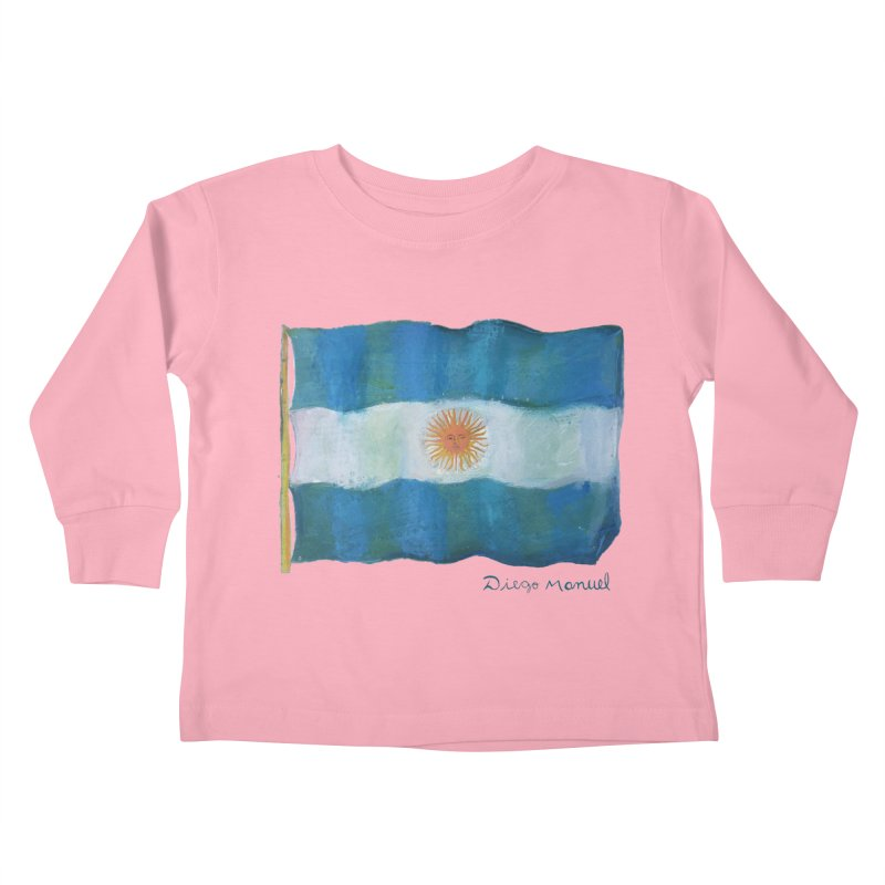 Argentina flag Kids Toddler Longsleeve T-Shirt by diegomanuel's Artist Shop