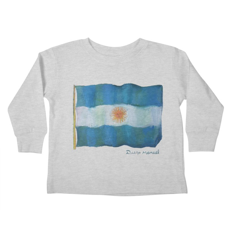 Argentina flag Kids Toddler Longsleeve T-Shirt by diegomanuel's Artist Shop