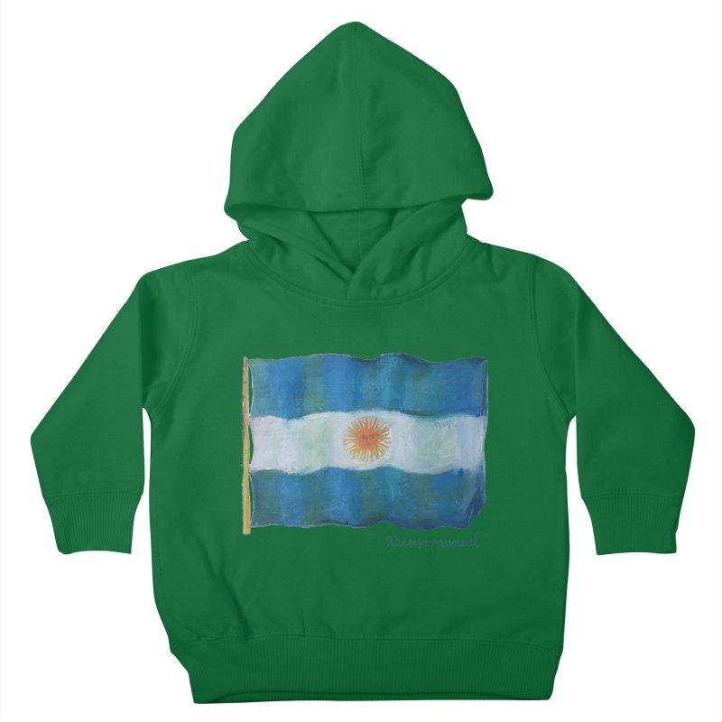 Argentina flag Kids Toddler Pullover Hoody by Diego Manuel Rodriguez Artist Shop