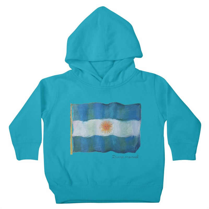 Argentina flag Kids Toddler Pullover Hoody by diegomanuel's Artist Shop