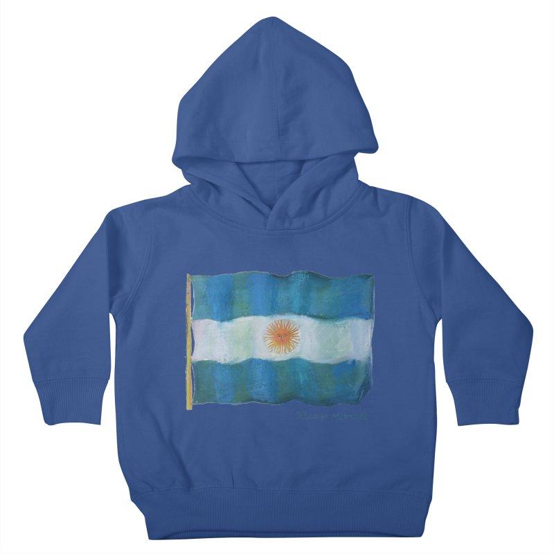Argentina flag Kids Toddler Pullover Hoody by diegomanuel's Artist Shop
