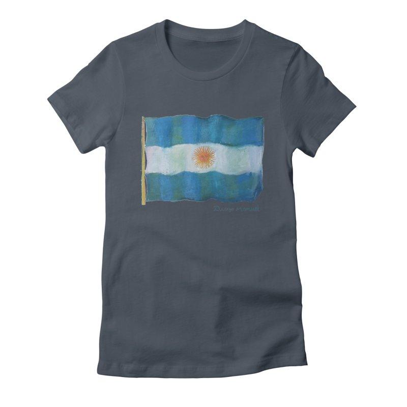 Argentina flag Women's T-Shirt by Diego Manuel Rodriguez Artist Shop