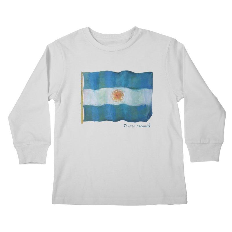 Argentina flag Kids Longsleeve T-Shirt by diegomanuel's Artist Shop