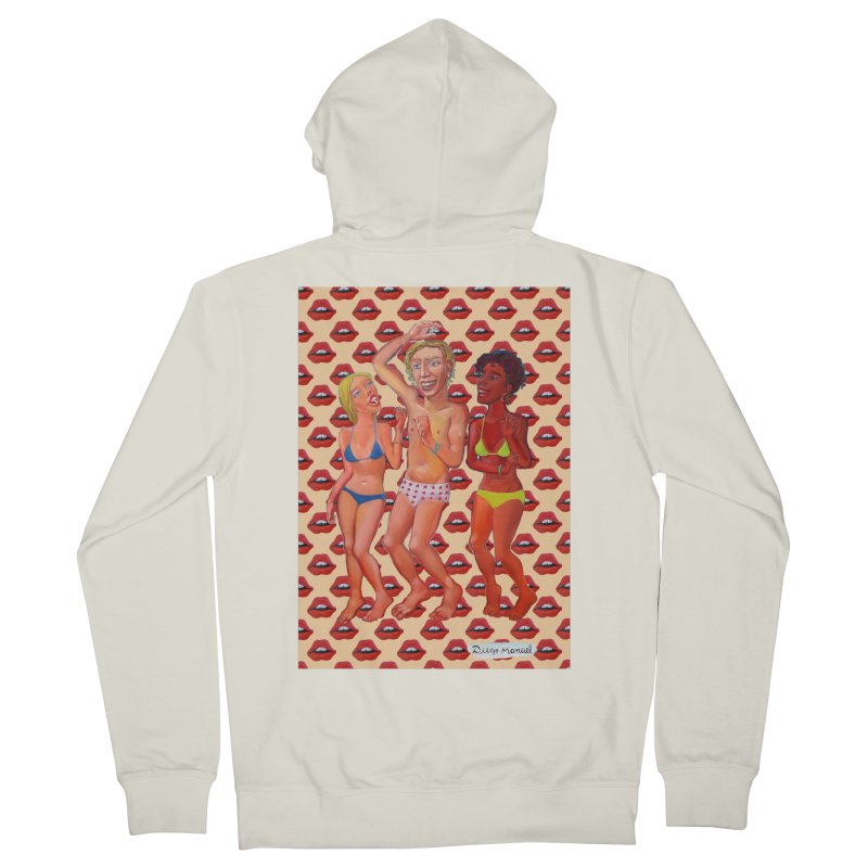Dancing on the beach 10 Women's French Terry Zip-Up Hoody by diegomanuel's Artist Shop