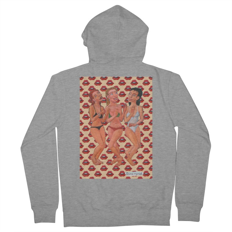Dancing on the beach 11 Women's French Terry Zip-Up Hoody by diegomanuel's Artist Shop