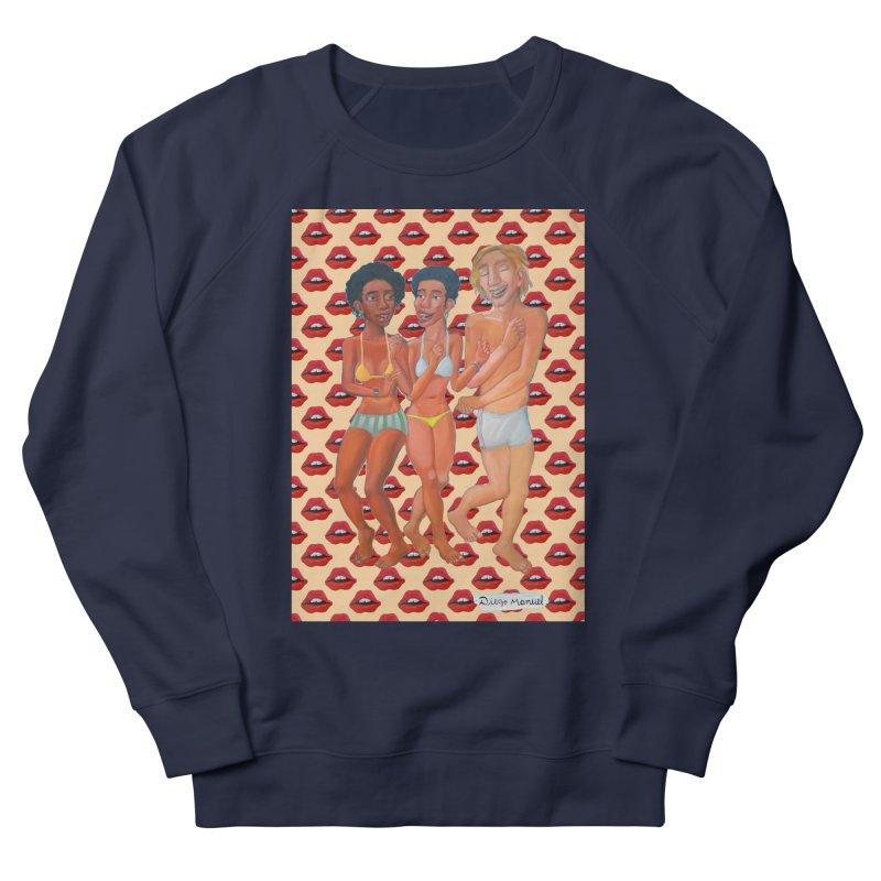 Dancing on the beach 12 Men's French Terry Sweatshirt by diegomanuel's Artist Shop