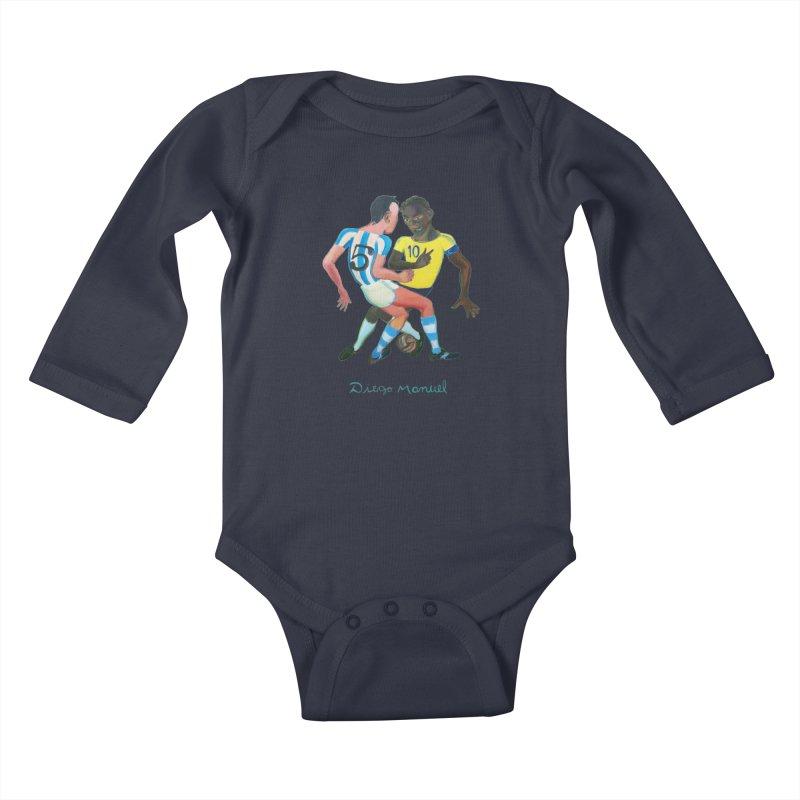 Brasil Argentina Kids Baby Longsleeve Bodysuit by Diego Manuel Rodriguez Artist Shop
