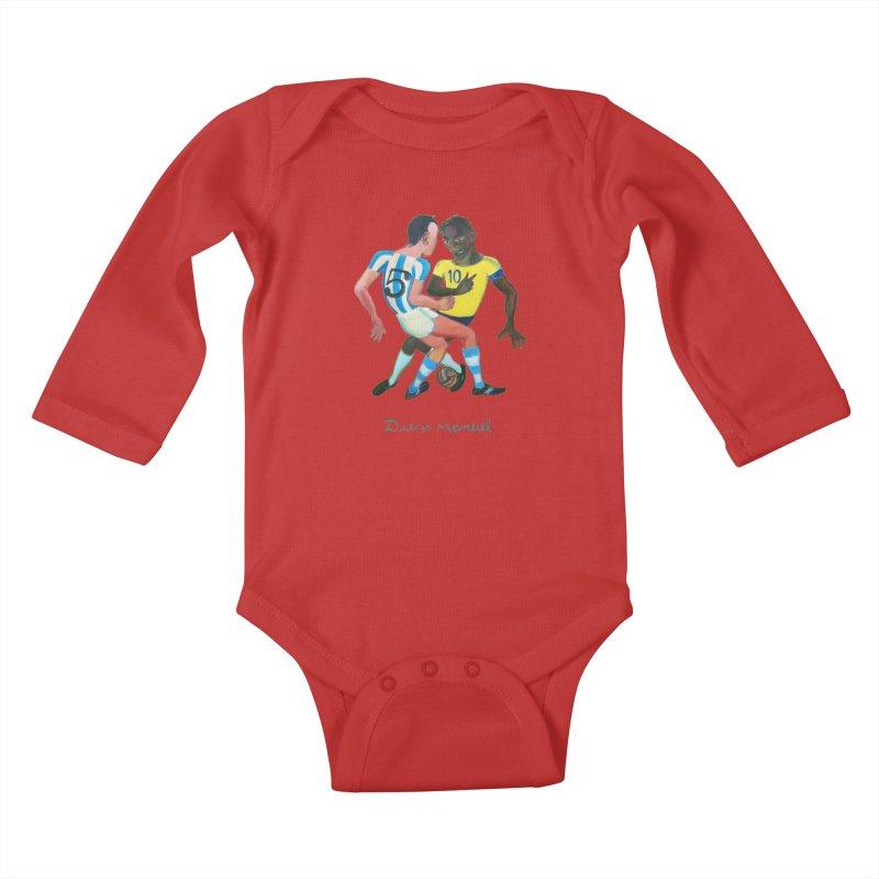 Brasil Argentina Kids Baby Longsleeve Bodysuit by diegomanuel's Artist Shop