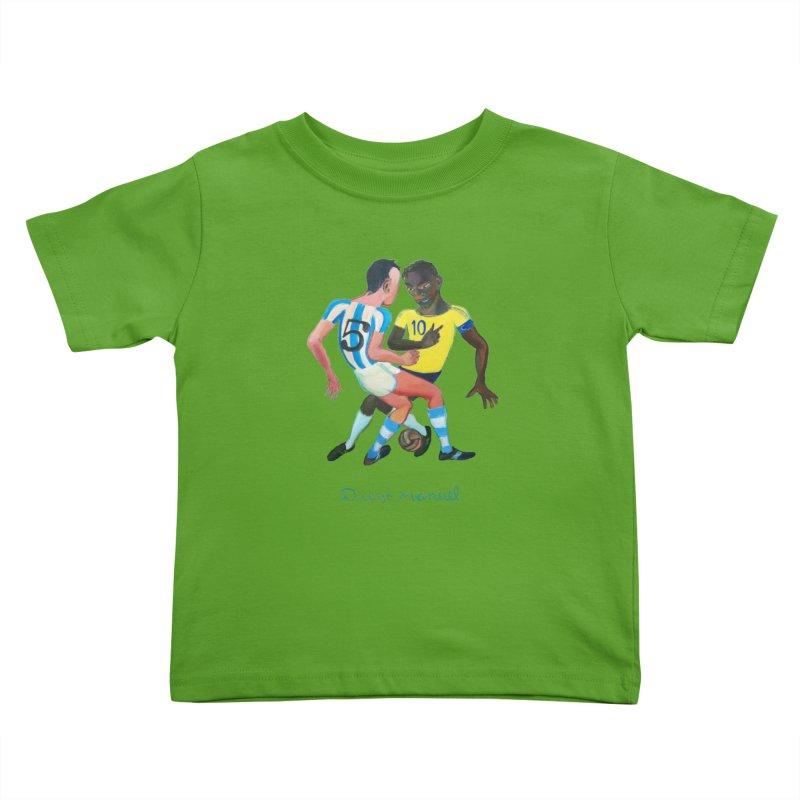 Brasil Argentina Kids Toddler T-Shirt by diegomanuel's Artist Shop