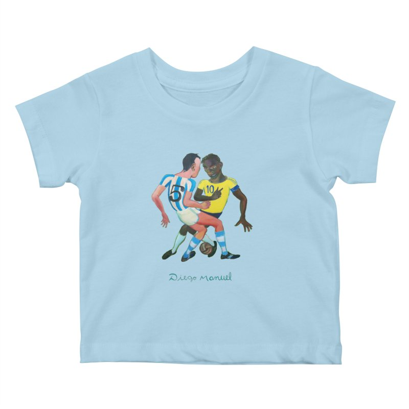 Brasil Argentina Kids Baby T-Shirt by diegomanuel's Artist Shop