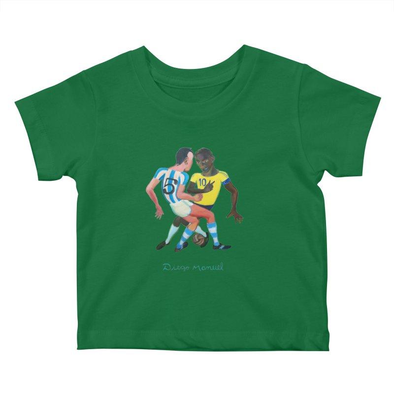 Brasil Argentina Kids Baby T-Shirt by Diego Manuel Rodriguez Artist Shop