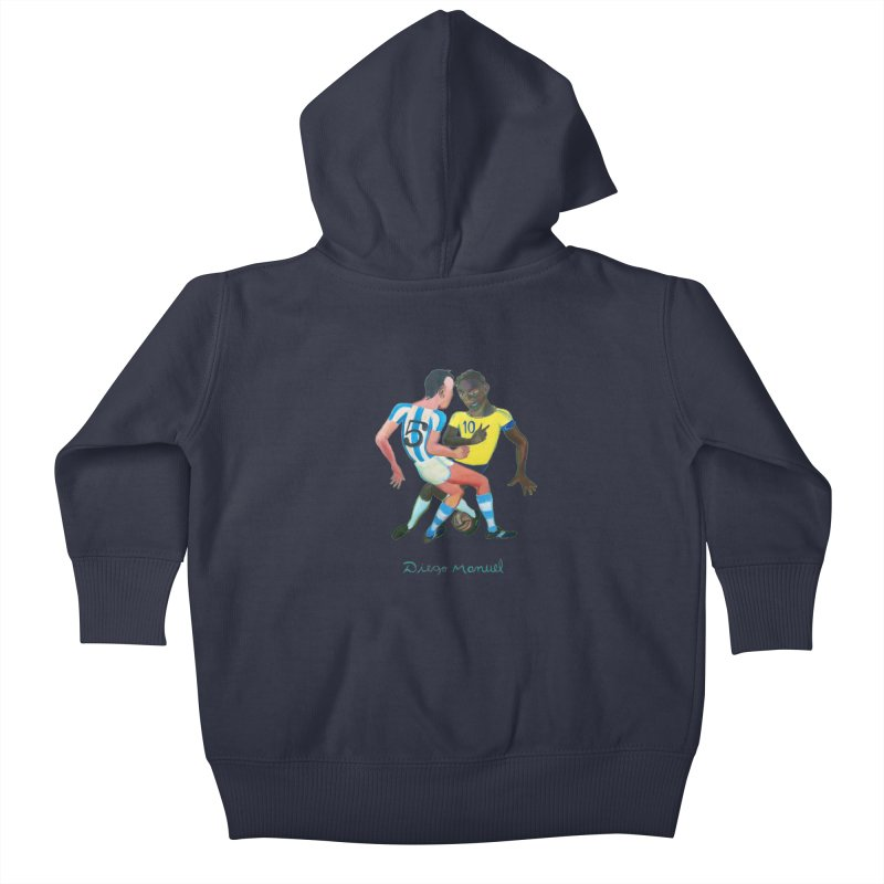 Brasil Argentina Kids Baby Zip-Up Hoody by diegomanuel's Artist Shop