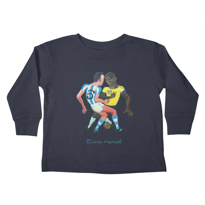 Brasil Argentina Kids Toddler Longsleeve T-Shirt by diegomanuel's Artist Shop