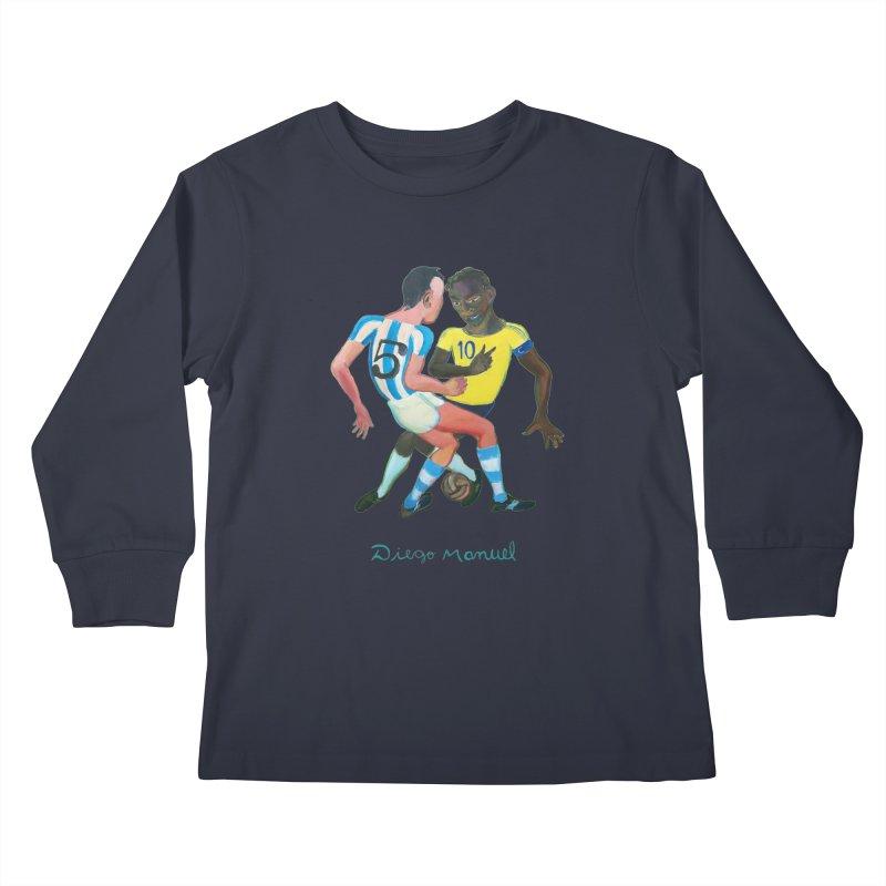 Brasil Argentina Kids Longsleeve T-Shirt by Diego Manuel Rodriguez Artist Shop