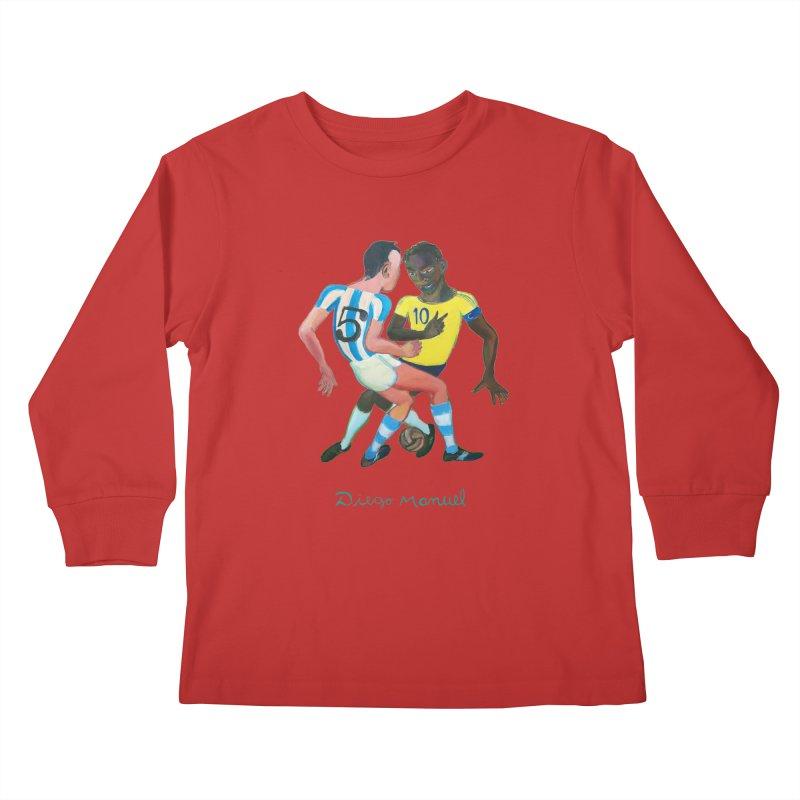 Brasil Argentina Kids Longsleeve T-Shirt by diegomanuel's Artist Shop