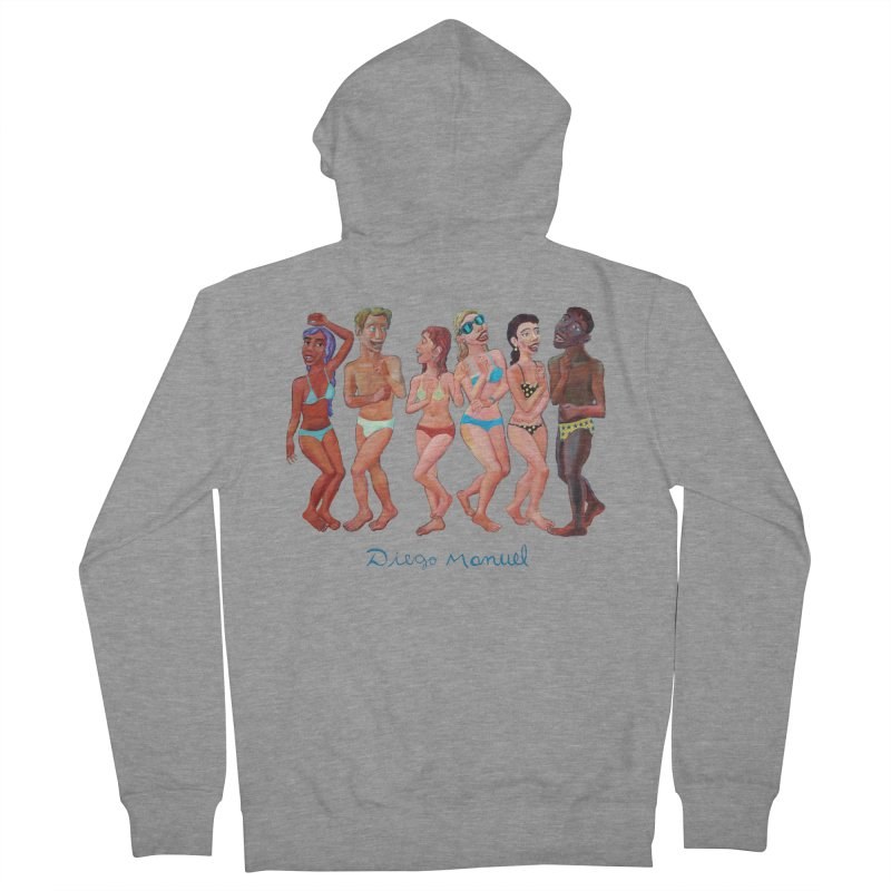 Beach party 2 Women's French Terry Zip-Up Hoody by diegomanuel's Artist Shop