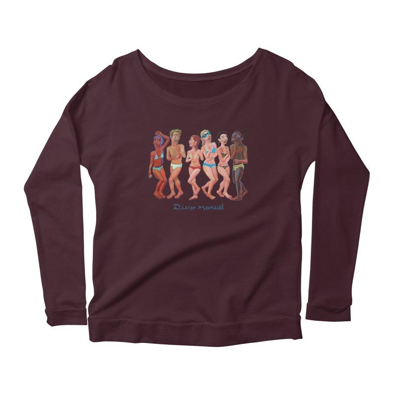 Beach party 2 Women's Scoop Neck Longsleeve T-Shirt by diegomanuel's Artist Shop