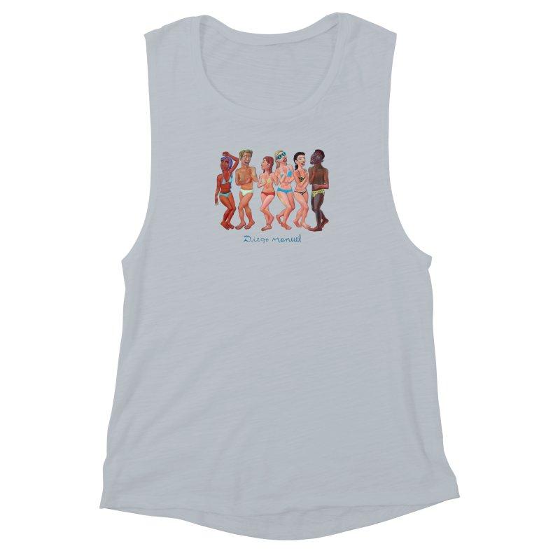Beach party 2 Women's Muscle Tank by diegomanuel's Artist Shop