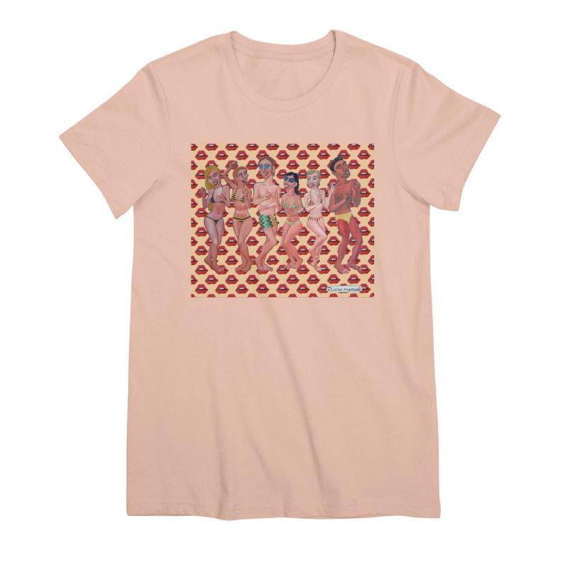 Beach party 6 Women's Premium T-Shirt by diegomanuel's Artist Shop