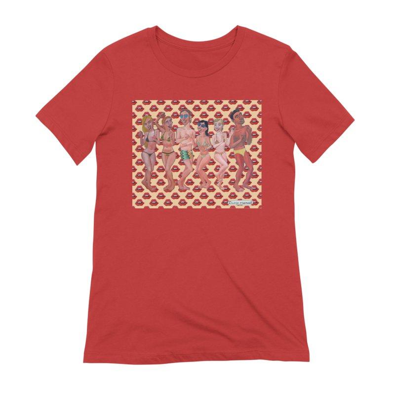 Beach party 6 Women's Extra Soft T-Shirt by diegomanuel's Artist Shop
