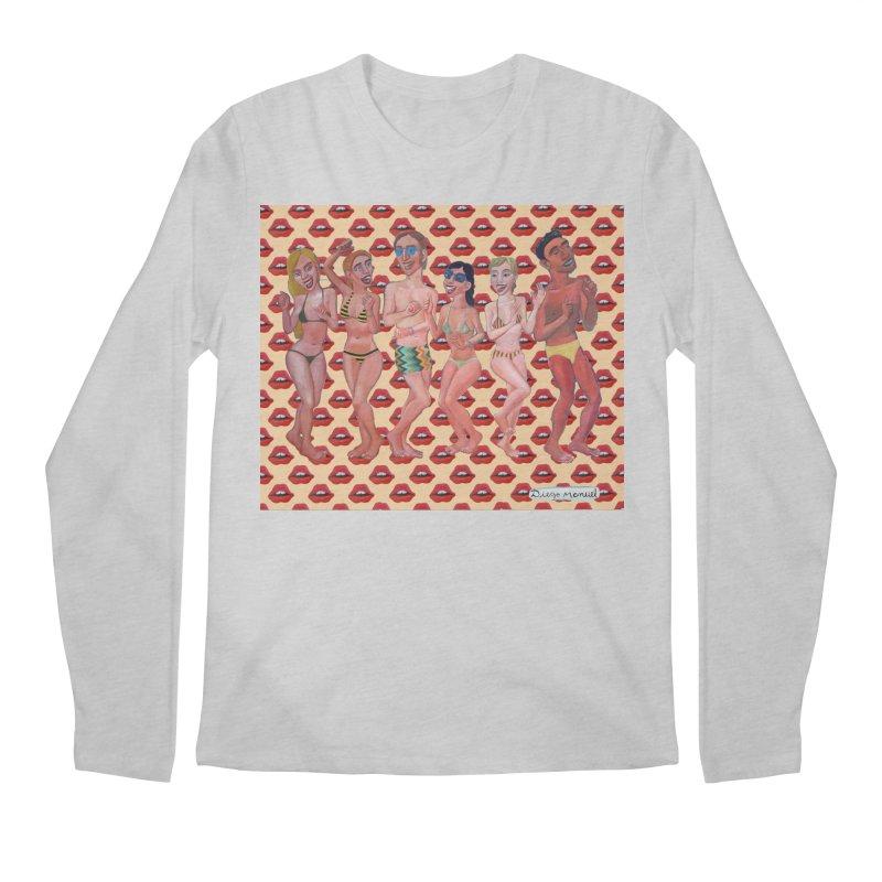 Beach party 6 Men's Regular Longsleeve T-Shirt by diegomanuel's Artist Shop