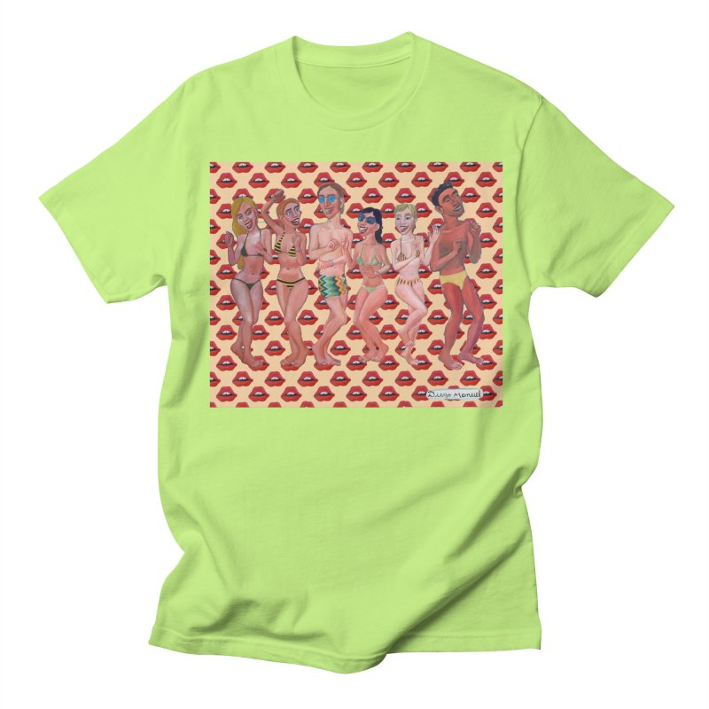 Beach party 6 Women's Regular Unisex T-Shirt by diegomanuel's Artist Shop