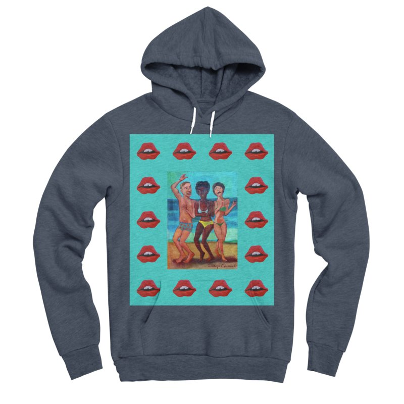 Dancing on the beach 3 Women's Sponge Fleece Pullover Hoody by diegomanuel's Artist Shop
