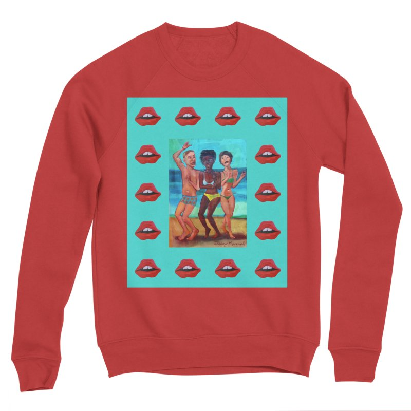 Dancing on the beach 3 Men's Sponge Fleece Sweatshirt by diegomanuel's Artist Shop