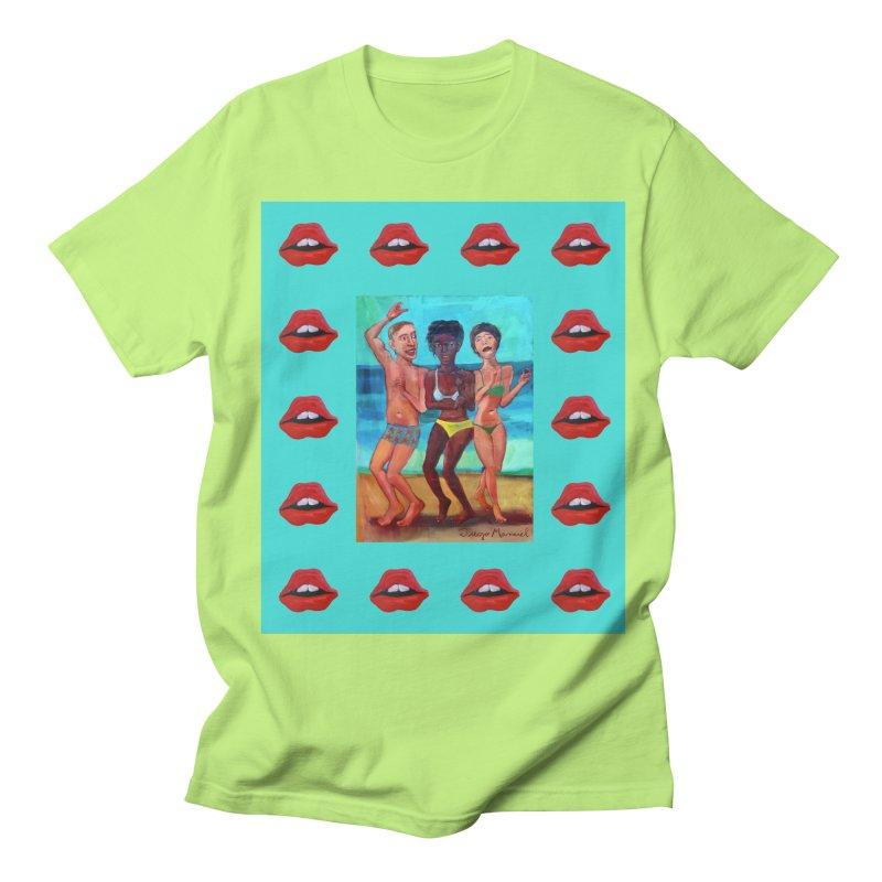 Dancing on the beach 3 Women's Regular Unisex T-Shirt by diegomanuel's Artist Shop