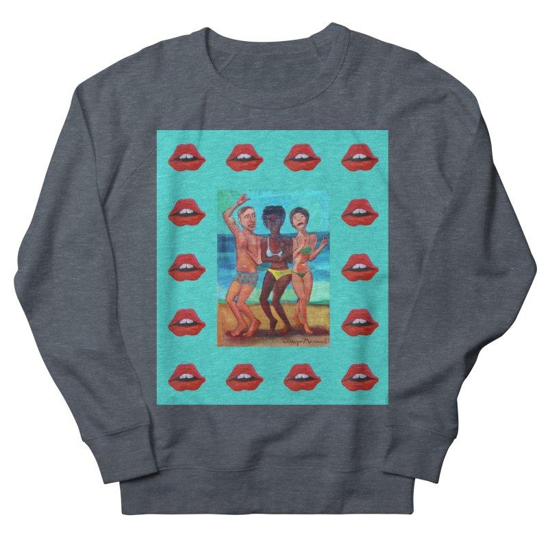Dancing on the beach 3 Women's French Terry Sweatshirt by diegomanuel's Artist Shop