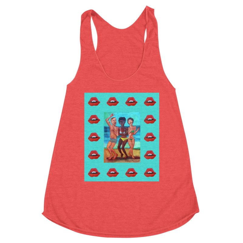 Dancing on the beach 3 Women's Tank by Diego Manuel Rodriguez Artist Shop