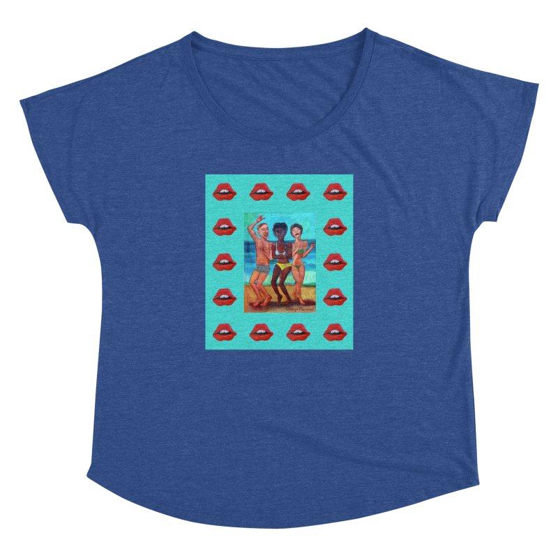 Dancing on the beach 3 Women's Dolman Scoop Neck by diegomanuel's Artist Shop