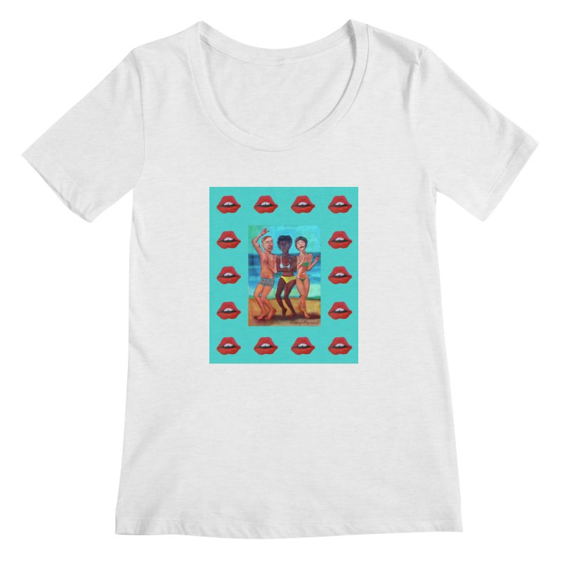 Dancing on the beach 3 Women's Scoop Neck by Diego Manuel Rodriguez Artist Shop