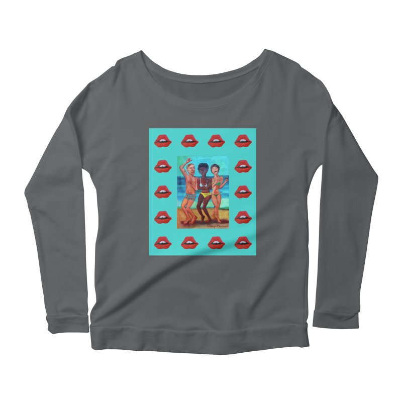 Dancing on the beach 3 Women's Longsleeve T-Shirt by Diego Manuel Rodriguez Artist Shop